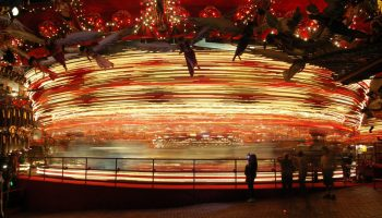 This isn't the right carousel. It's a picture I took of the carousel at the House on the Rock in 2007, because that's all I have on me.