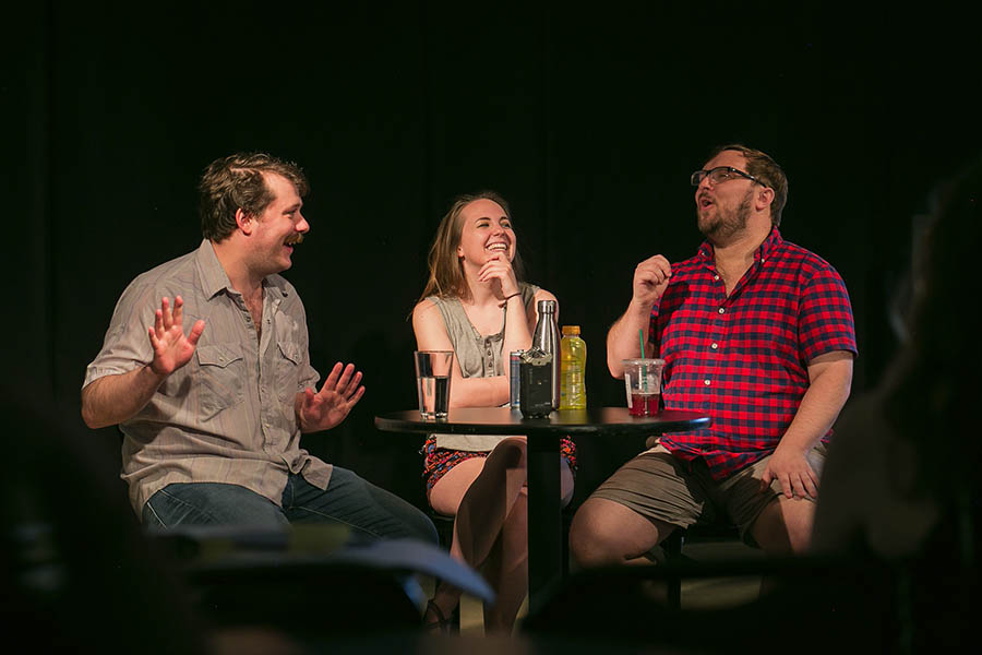<i>Please Make This</i> cohosts Hobert Thompson, Laura Petro, and Spencer D. Blair