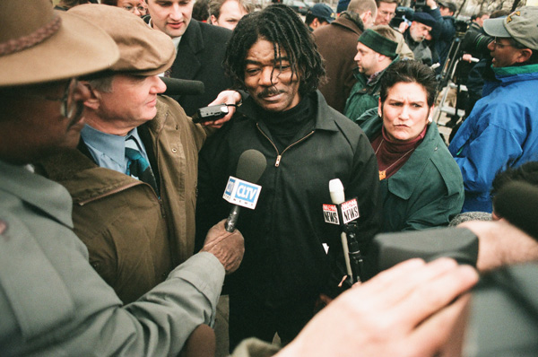 Anthony Porter upon his 1999 release from death row