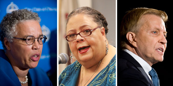 Cook County board president Toni Preckwinkle, Chicago Teachers Union president Karen Lewis, and Second Ward alderman Robert Fioretti are all thinking about running against Mayor Rahm Emanuel.