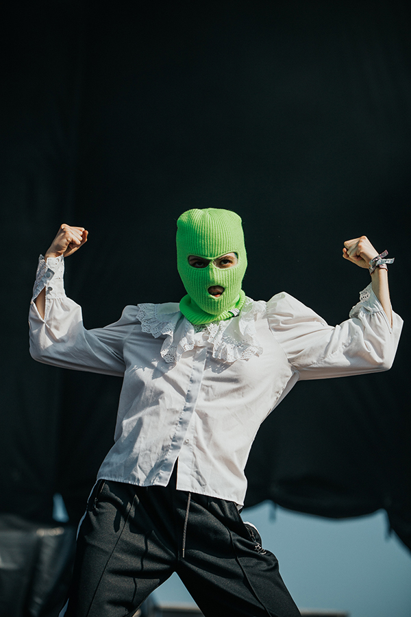 An anonymous member of Pussy Riot