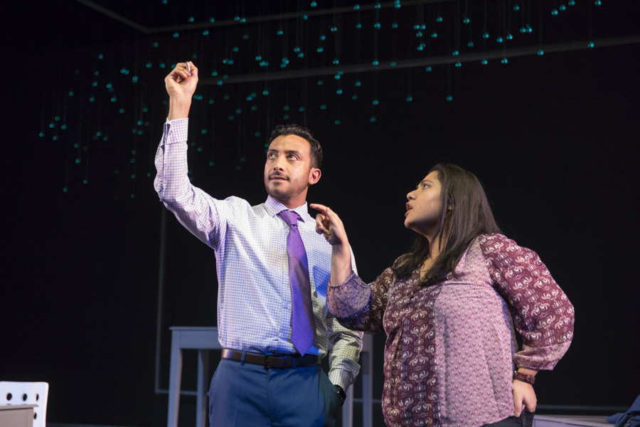 Adam Poss and Priya Mohanty in Victory Gardens' <i>Queen</i>