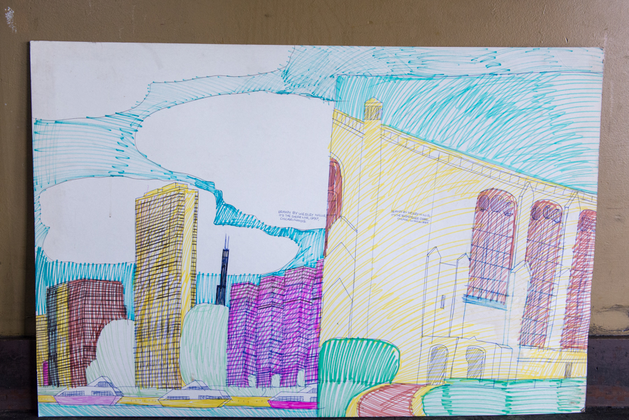 A close-up of the downtown/Rockefeller diptych