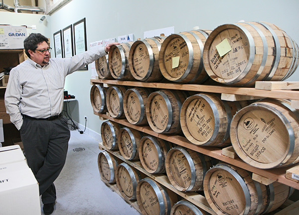 Derrick Mancini at Quincy Street Distillery