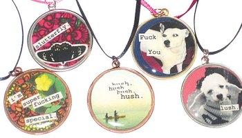 Pendants by Rachel Katzman (see Logan Square Holiday Art Sale & Show)