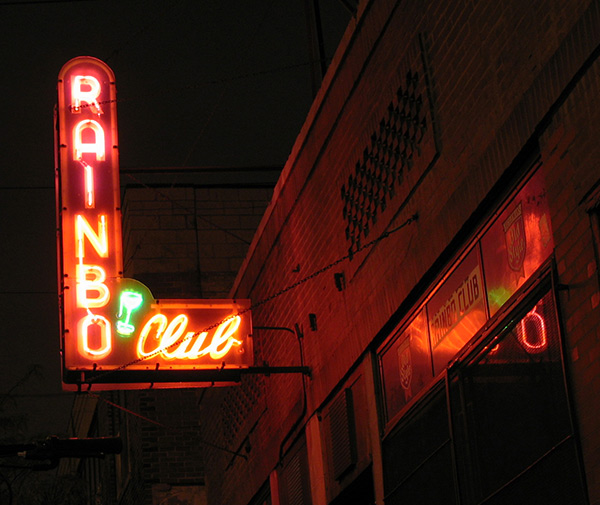 The Rainbo Club, where Nelson Algren drank in the 40s and musicians and hipsters mingled and drank in the 90s