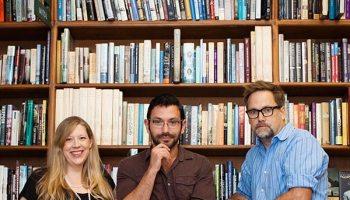 Dana Norris, Keith Ecker, and Ian Belknap at Powell's Books