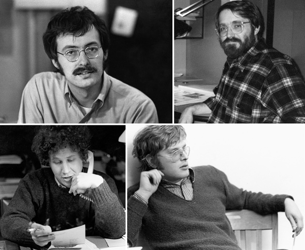 Clockwise from top left: former owners Bob McCamant, Bob Roth, Tom Yoder, and Tom Rehwaldt back in the day