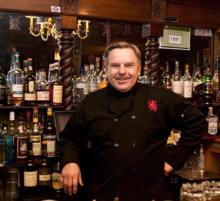 Red Lion bartender Joe Heinen has John Ford on tap.