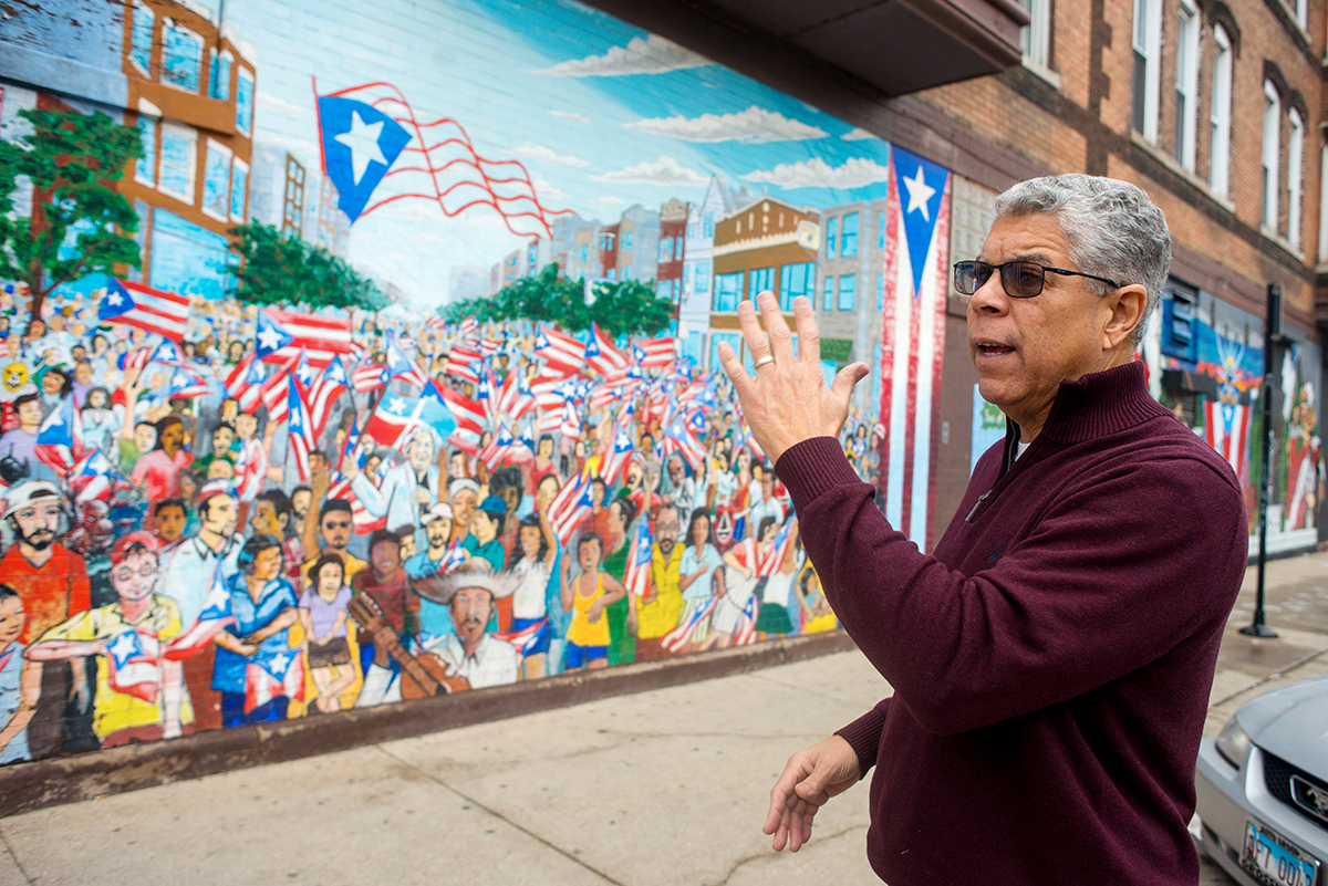 """""""We want to preserve this as a space for Puerto Rican families,"""" says 26th Ward alderman Roberto Maldonado. He supports lifting the ban on rent control. """"In order to motivate landlords to go along this path we need to provide incentive to upkeep property. A board should be established that would be comprised of people that know the neighborhood."""""""