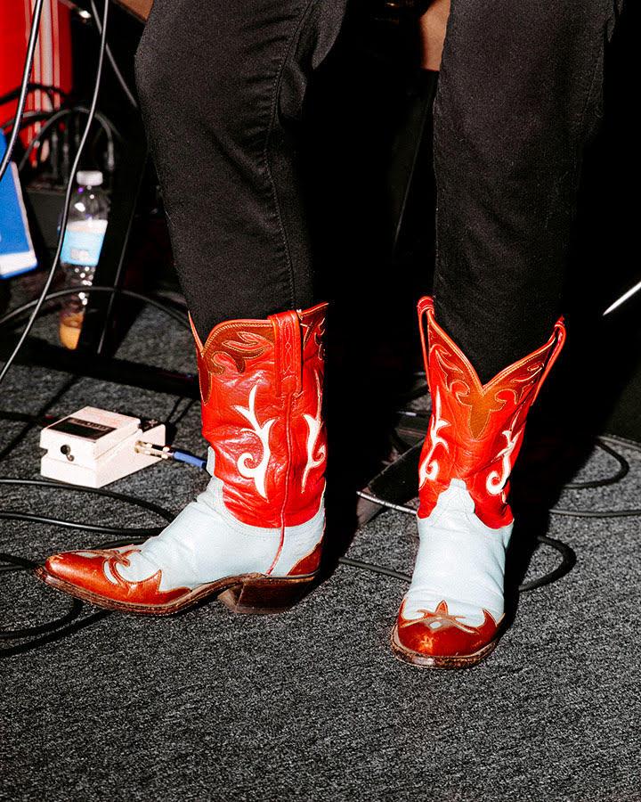 The snazzy boots of Diamondback singer and guitarist Reva Goodman