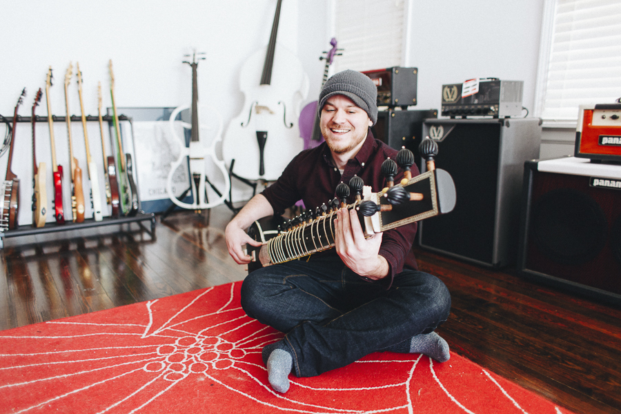 Scallon and his sitar. It's less satisfying but by no means impossible to bang your head while seated.