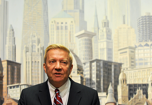 """Second Ward alderman Robert Fioretti was among the handful of aldermen who tried to stop the mayor's digital billboard deal. """"Our skyline is majestic, unparalleled,"""" he says."""