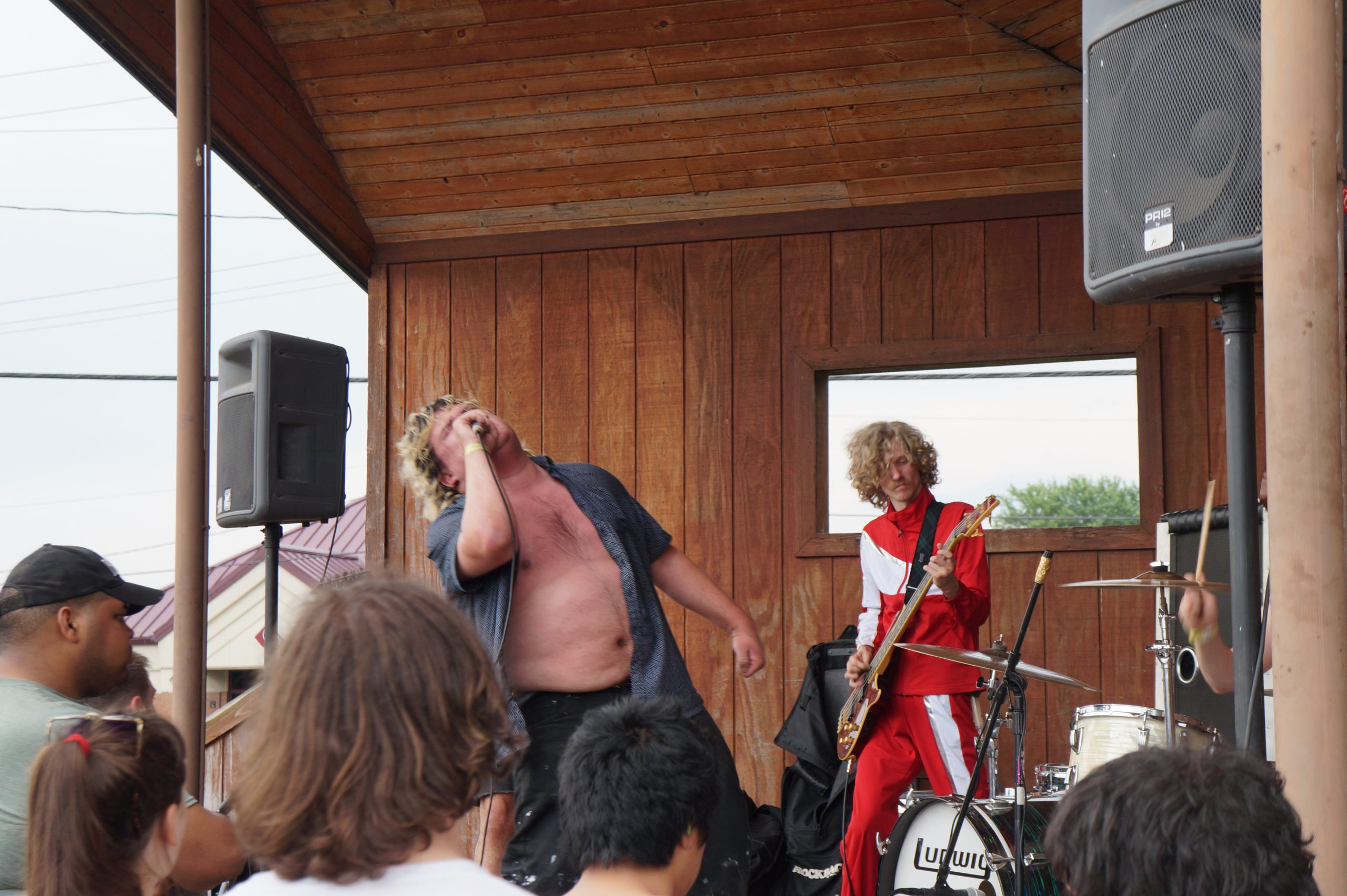 Livin' Thing onstage at Rock 'n' Roll Hardee's