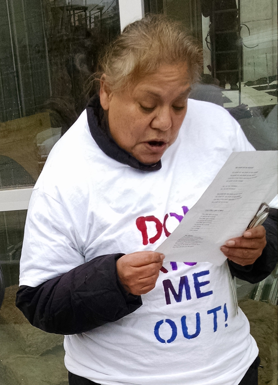 Rosalinda Hernandez was evicted from her West Town apartment in July.
