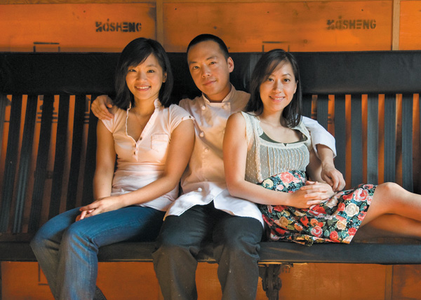 Vicki, Edward, and Jenny Kim at Ruxbin Kitchen