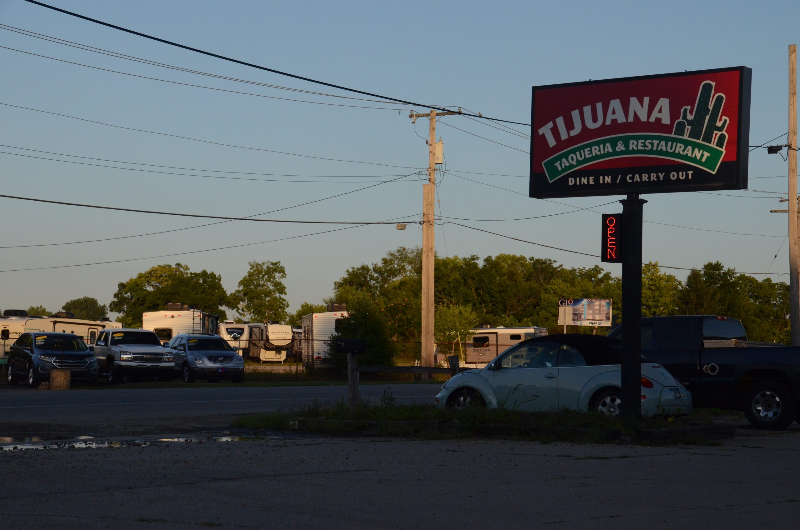"""A view of State Road 33. The """"RV Manufacturing Capital of the World,"""" Elkhart County is home to one of the biggest Latino populations in the state."""