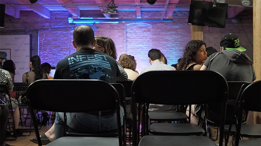 The audience fills up before the show. The Hoodoisie regularly draws upwards of 150 audience members to each show.