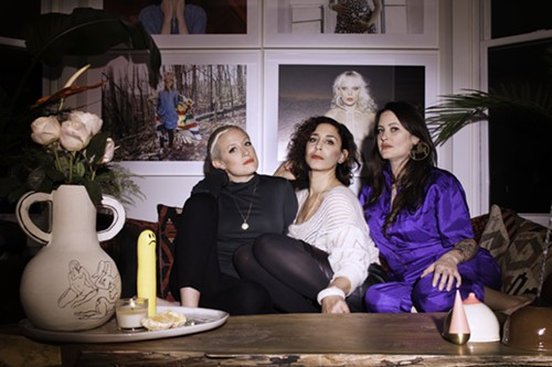 Shop Sensual organizers Kristen Kaza, Chelsea Ross and Leah Ball.