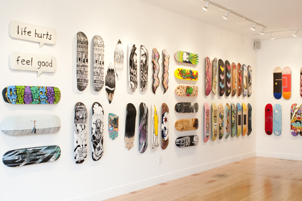 A decked-out wall at Vertical Gallery