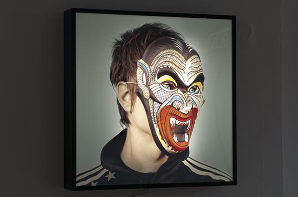 """""""Rabbit, Run"""" self portrait by Chris Eichenseer at Public Works"""