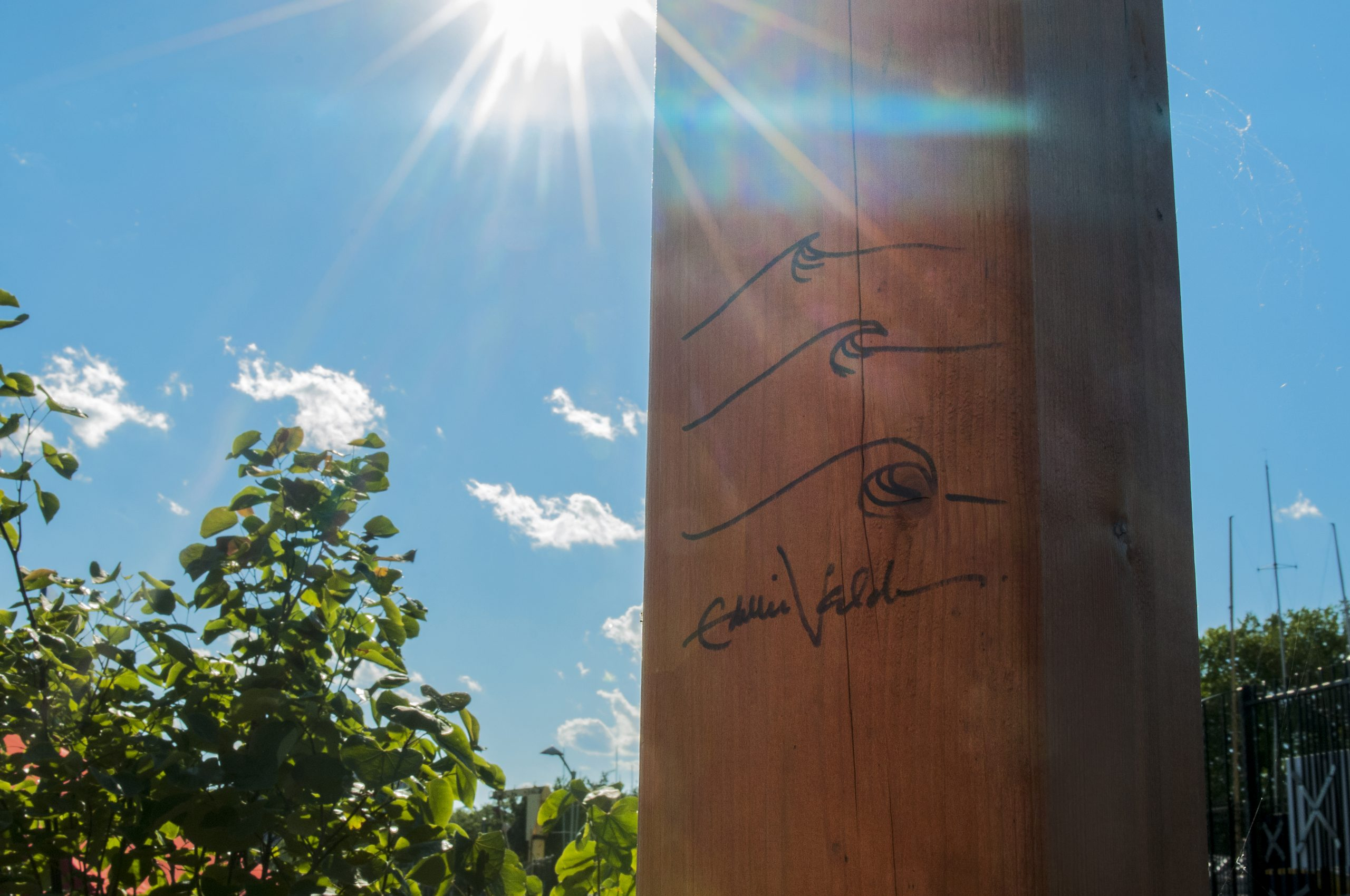 Eddie Vedder autographed the party dock's stage.