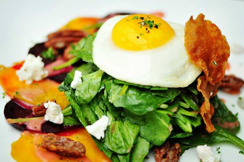 Spinach salad at Bridge House Tavern