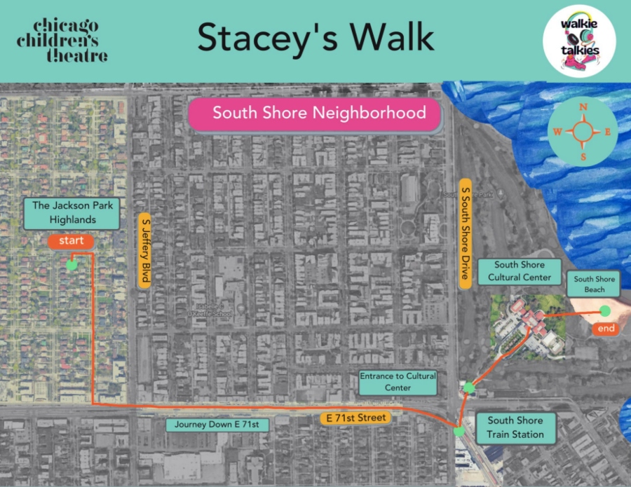The map for <i>Stacey's Walk</i> by Quenna Lené Barrett