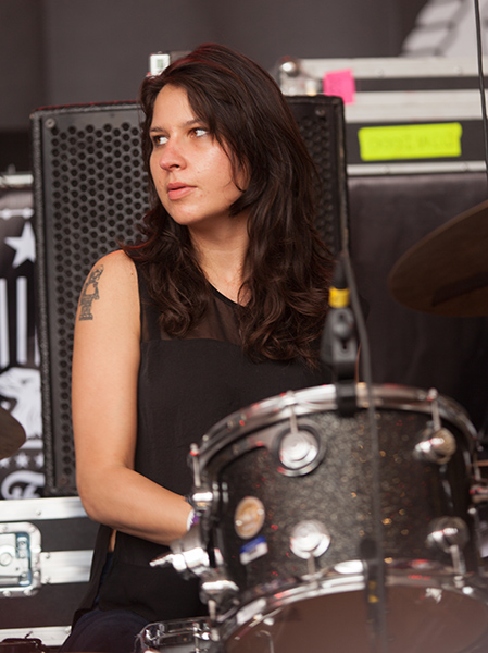 Warpaint drummer Stella Mozgawa at South by Southwest in 2014