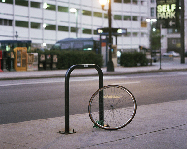 Thirty-five percent of the stolen bikes posted on the Chicago Stolen Bike Registry were locked with easy-to-cut cable locks; less than 10 percent were secured with a U-lock to a bike rack—the preferred method.