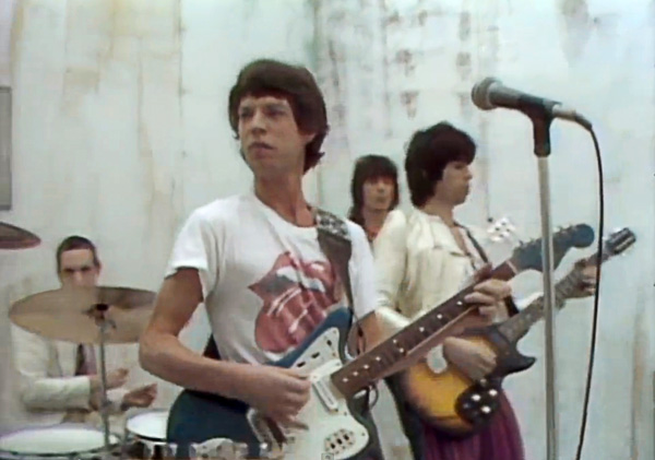 """Screen shot from the video for the Rolling Stones' """"Respectable"""""""