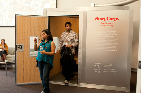 Shah and Parekh came to the StoryCorps booth on the eight anniversary of their first date.