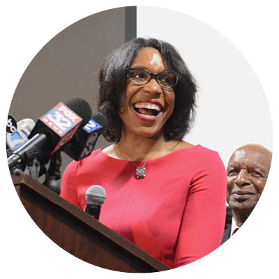 """A campaign ad ripped Juliana Stratton as """"a puppet—a pet for Rahm Emanuel."""" Apparently, it was ineffective; she won with 68 percent of the vote."""