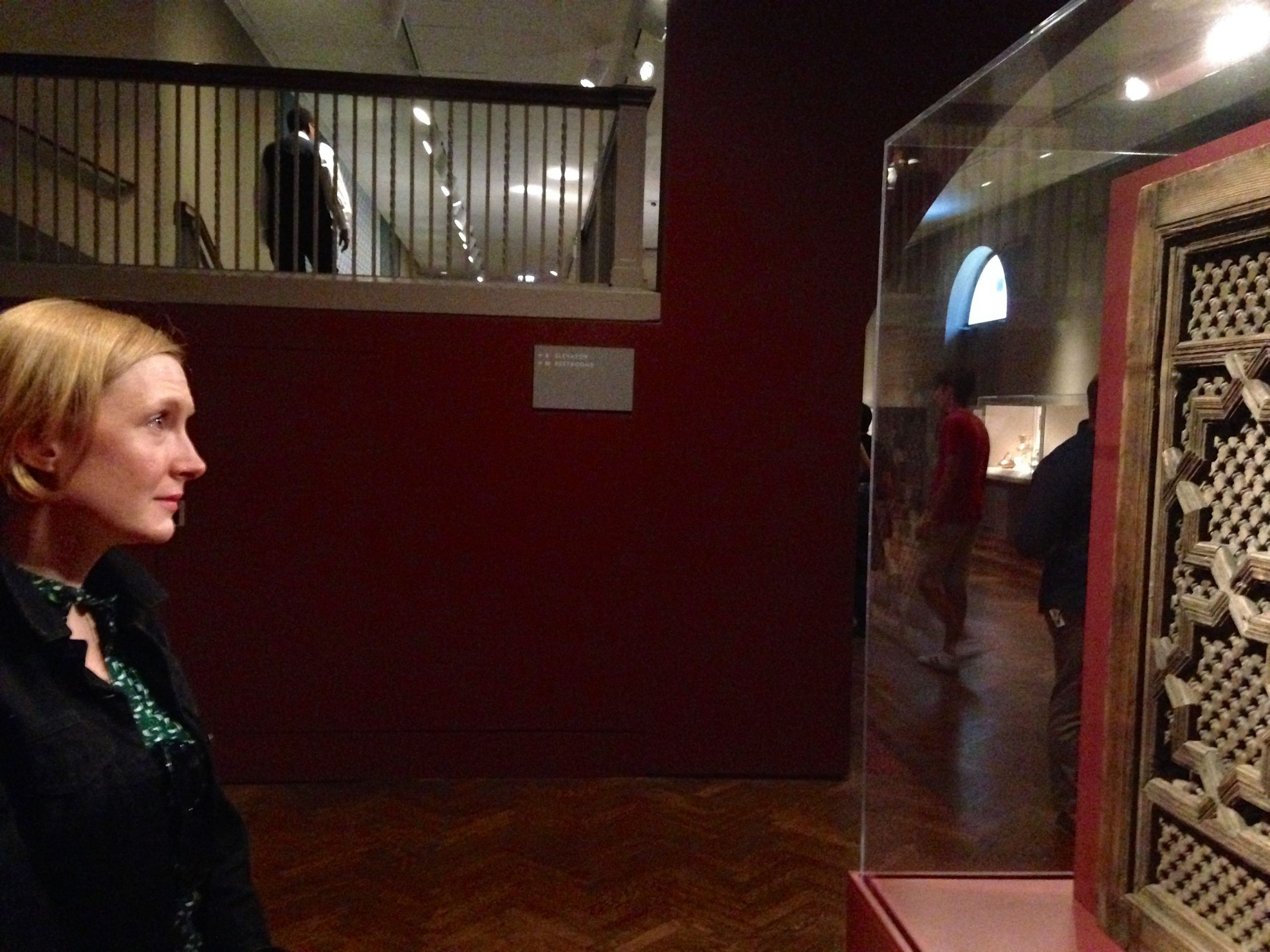 Nisi Sturgis looks at an Islamic screen.