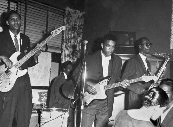 Syl Johnson and band at 1804 S. Rush, July 1960