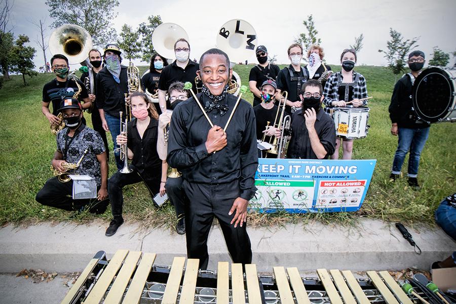 Thaddeus Tukes and the Chicago Freedom Ensemble on the lakefront
