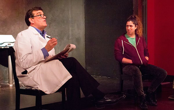 Bob Fisher and Erin Diamond in <i>The Condition</i>