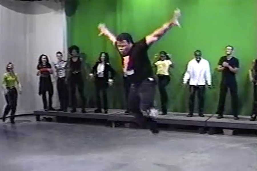 """Melvin """"the Alexander"""" Dunlap showing off his moves in 1997"""