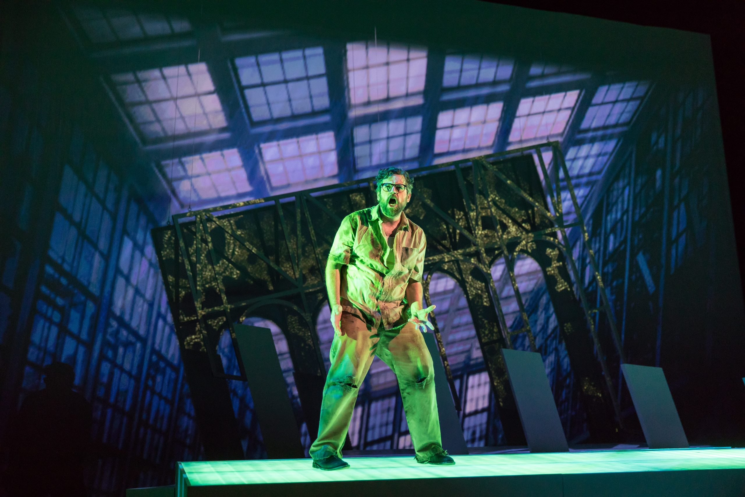 Andrew Wilkowske in Chicago Opera Theater's <i>The Invention of Morel</i>