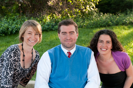 Theater on the Lake curators Meghan Beals McCarthy and Michael Patrick Thornton and managing director Samantha Chavis