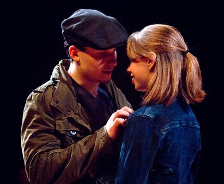Nathan Borowski and Kaitlin Fleharty in The Blue Room