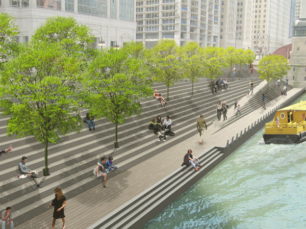 The feds are ready to loan the city $100 million to build six more blocks along the south bank of the Riverwalk.