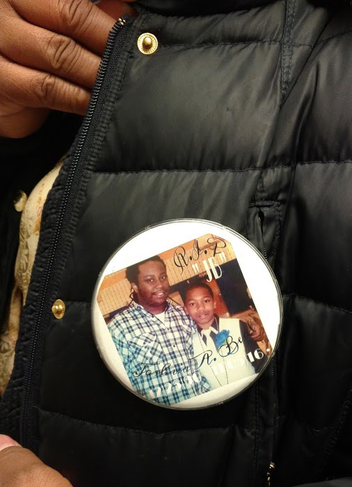 Tiffaney's pin she wore to court