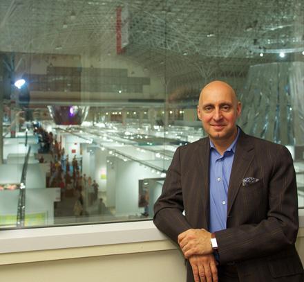 Resurrection man Tony Karman overlooking Expo Chicago