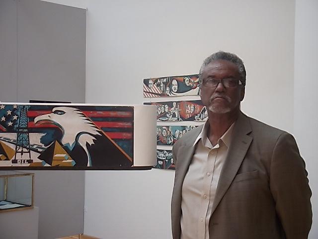 Eda at the Koehnline Gallery exhibition in 2015