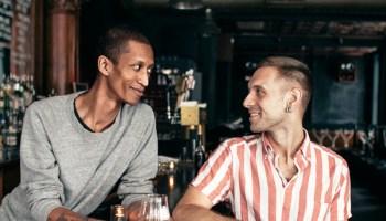 Aay Preston-Myint (left) and Colin Dickson at the Charleston