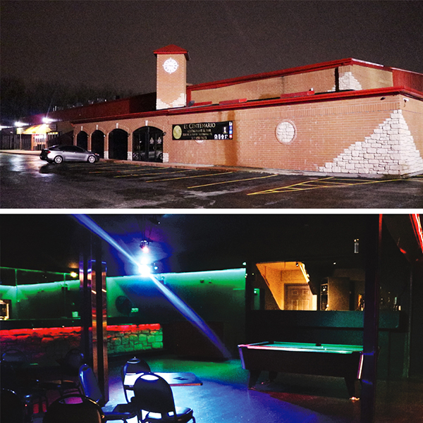 Top: The former home of Adrianna's. Bottom: DJ Reese, Tink's DJ, used to spin at Adrianna's in the booth that's still there behind the pool table.
