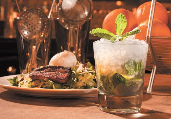 Salad Lyonnaise and Velvet Smash