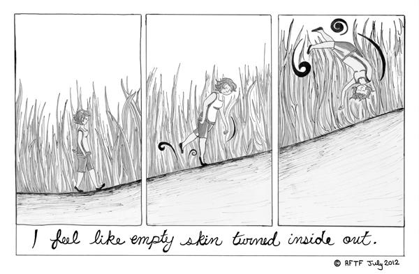 Diary comic, 2012, by Rachel Foss