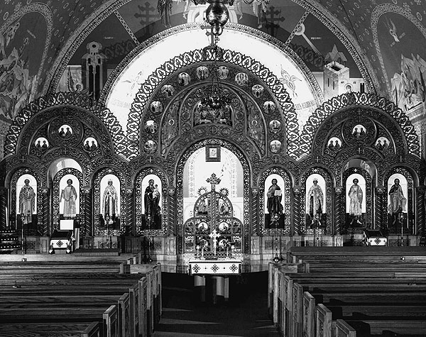 the interior of Saints Volodymyr and Olha, 2245 W. Superior
